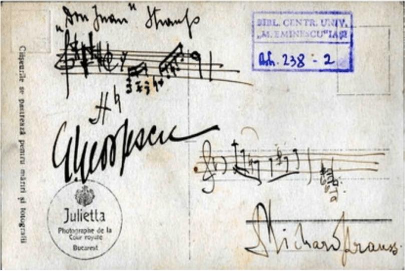 Corespondenta Georgescu si Richard Strauss