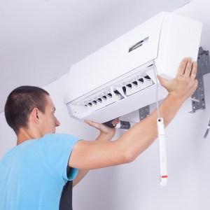installation of a mini-split AC unit