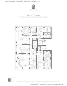 The Ritz-Carlton Residences - Floor Plan - The Valencia