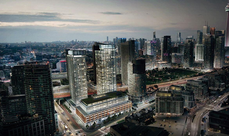 CityPlace Lakeshore Condos Aerial View Toronto, Canada