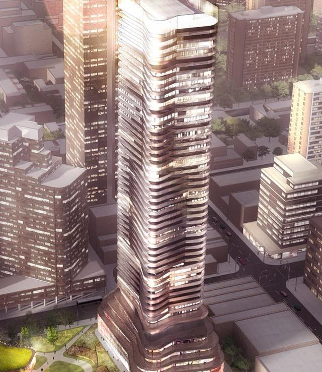 Wellesley On The Park Condos Building View Toronto, Canada