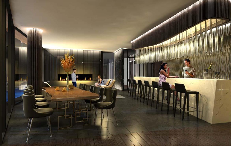 1 Yorkville Condos Wine Lounge Toronto, Canada
