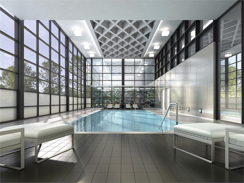 Downtown Erin Mills Condos Swimming Pool Toronto, Canada