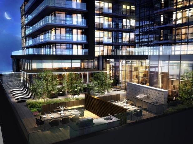 The Eglinton Condos Terrace Lounge Toronto, Canada