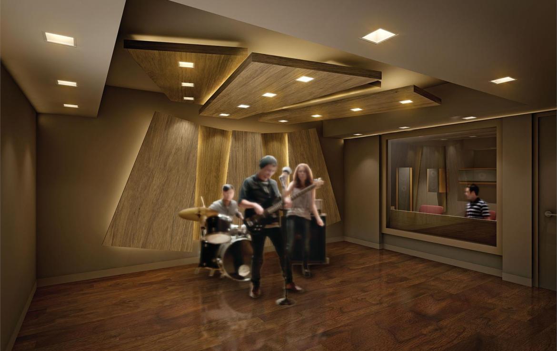 Exchange Condos Music Room Toronto, Canada