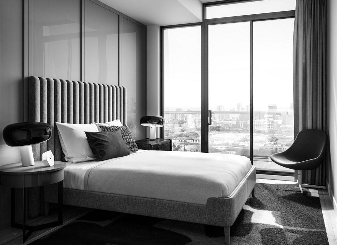 Time and Space Condos Bedroom Toronto, Canada