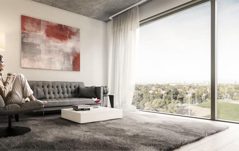 The Queensway Condos Living Room Toronto, Canada