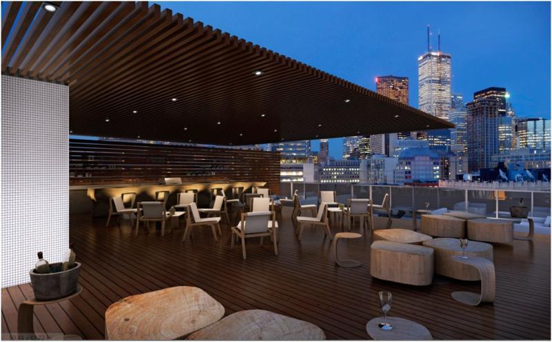 12 Degrees Condos Terrace Lounge Toronto, Canada