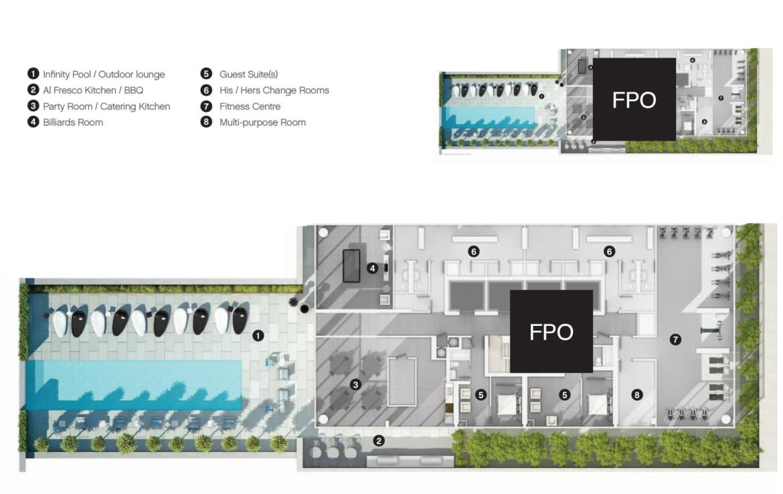 Casa 3 Condos Amenities Plan Toronto, Canada