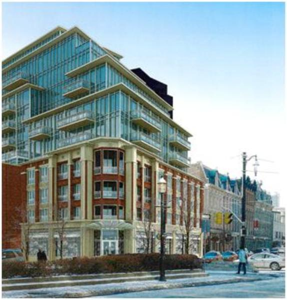 The Berczy Condos Front View Toronto, Canada