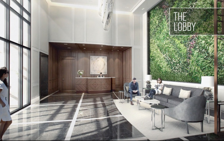 The Vanguard Condos Lobby View Toronto, Canada