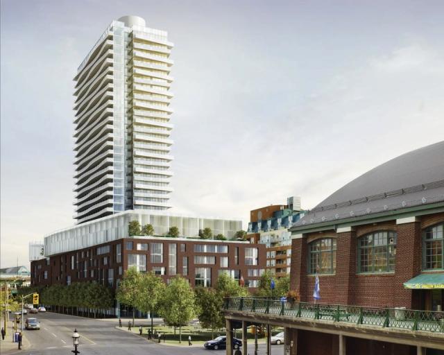 Market Wharf Condos Street View Toronto, Canada