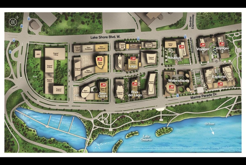 Riva del Lago Condos Property Map Toronto, Canada