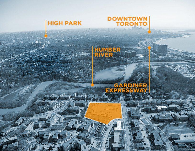 Backyard Condos Satellite View Toronto, Canada