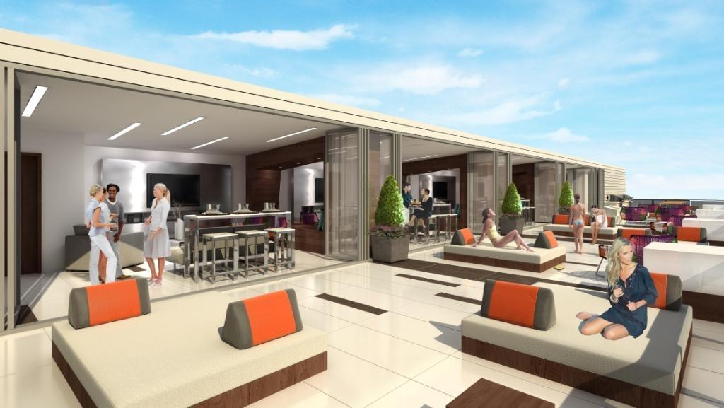 The Carlaw Condos Terrace Lounge Toronto, Canada