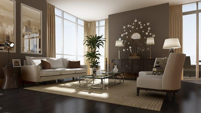 300 Front Condos Living Area Toronto, Canada