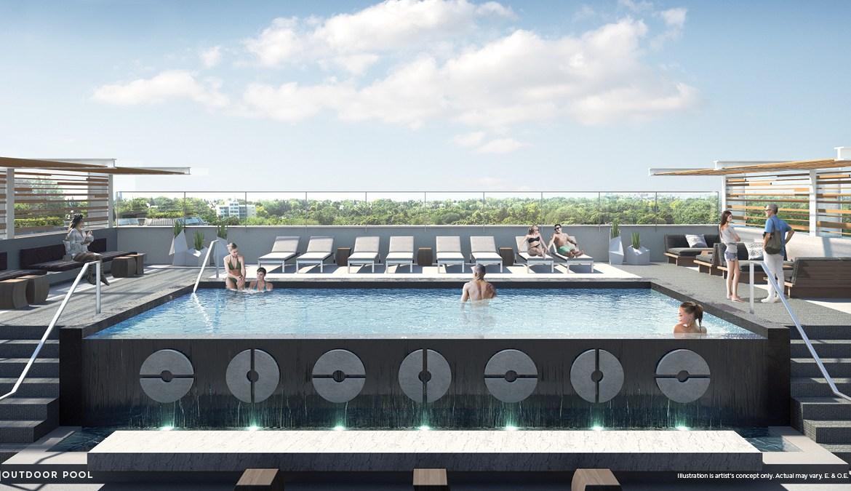 Vita Condos Outdoor Pool Toronto, Canada