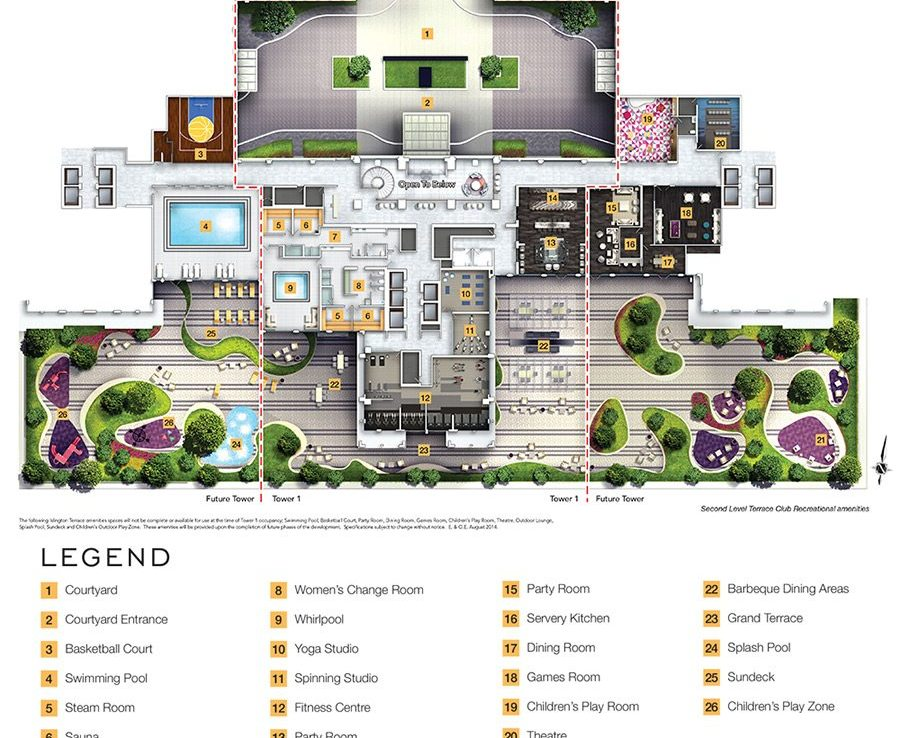 Bloorvista Condos Amenities Plan Toronto, Canada