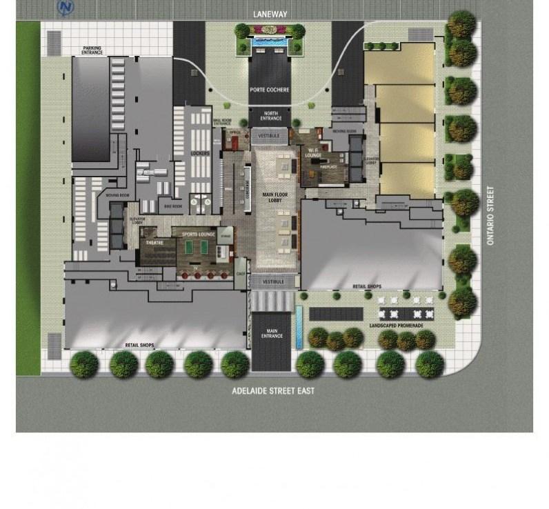 Axiom Condos Property Plan Toronto, Canada