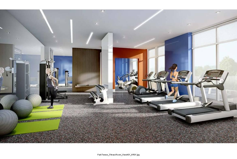 Park Towers at IQ Condos Gym Toronto, Canada