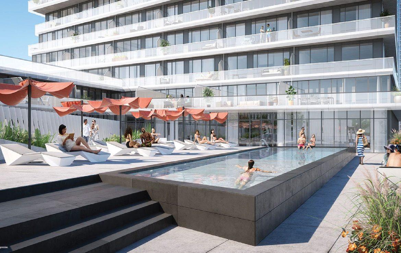 M City Condos Outdoor Pool Toronto, Canada
