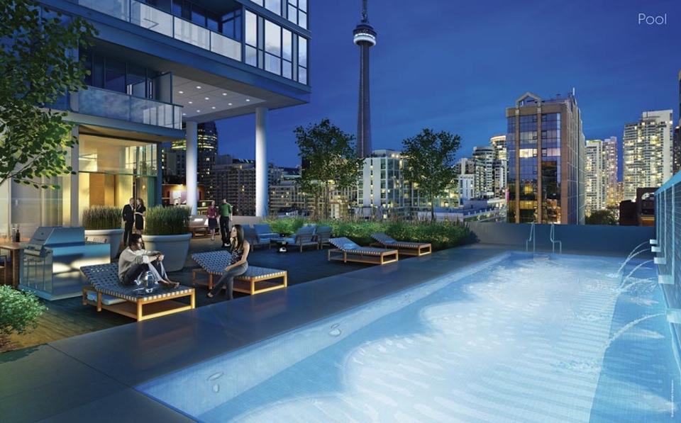 Charlie Condos Swimming Pool Toronto, Canada