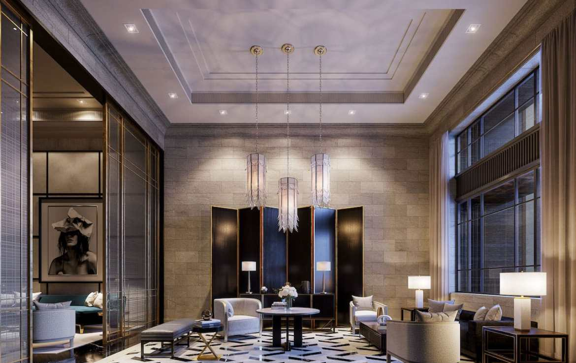Rendering of 89 Avenue Condos The Grand Lobby.