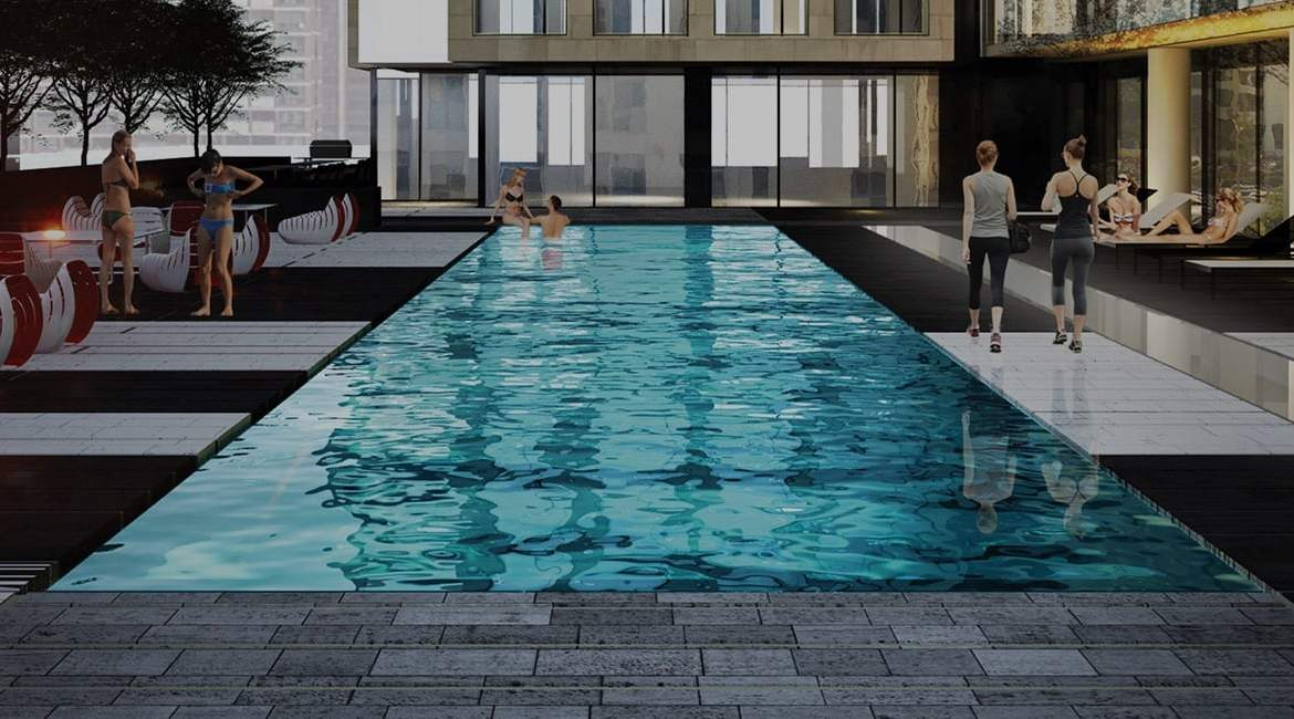 Rendering of The Gloucester on Yonge Condos swimming pool