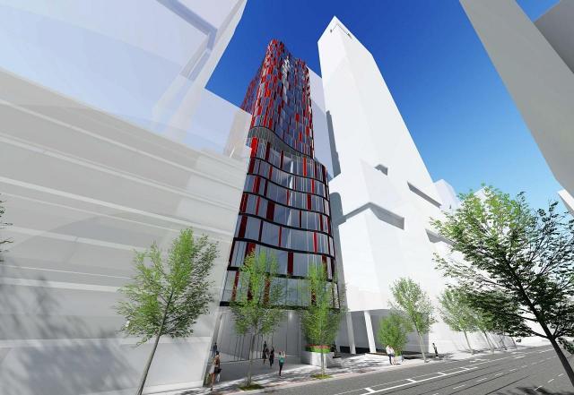 217 Adelaide West rendering of building exterior.