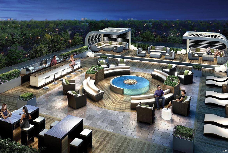 5959 Yonge Condos Terrace Lounge Toronto, Canada