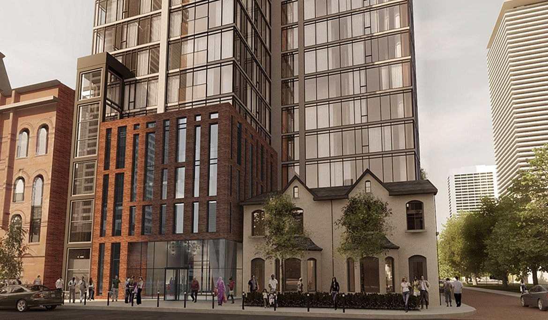 8 Gloucester Condos Building Exterior and Street Area