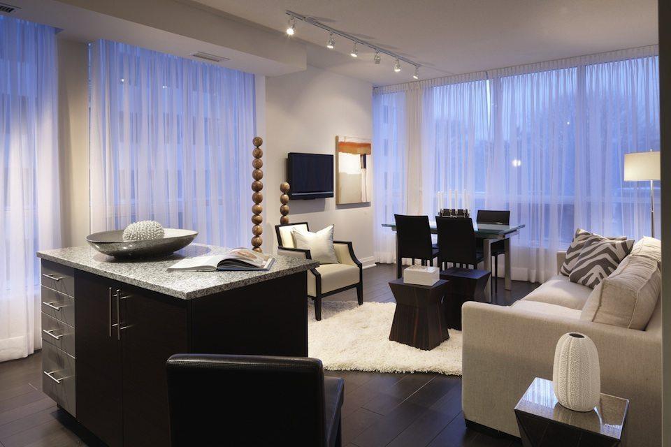 83 Redpath Condos Living Area Toronto, Canada
