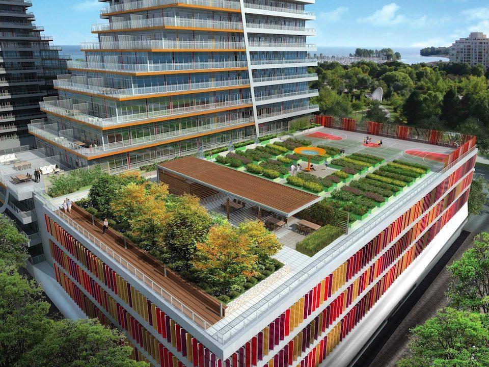 Eau du Soleil Condos Terrace Garden Toronto, Canada