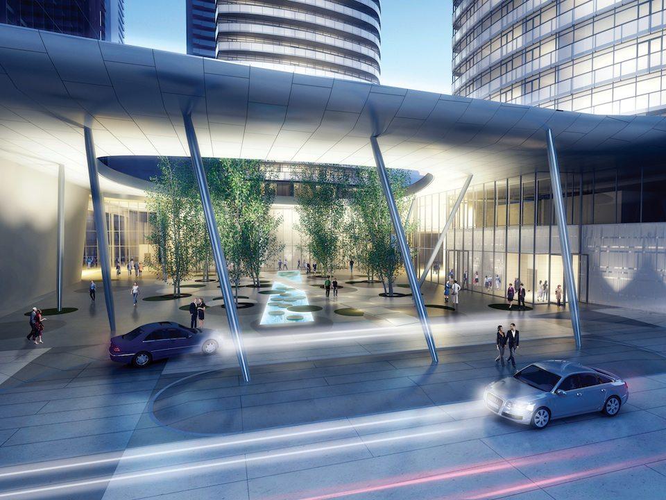 Ïce Condominiums at York Centre Entrance Toronto, Canada