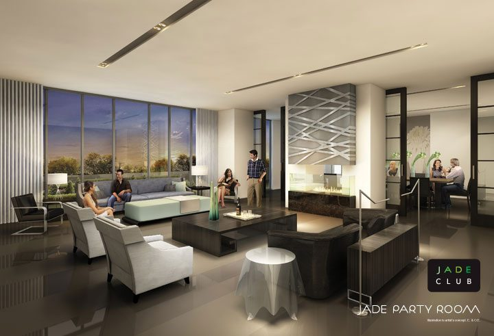 Jade Condominiums Party Room Toronto, Canada
