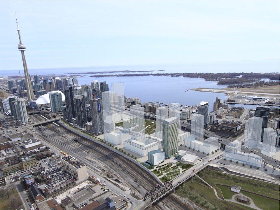 Library District Condos Aerial View Toronto, Canada