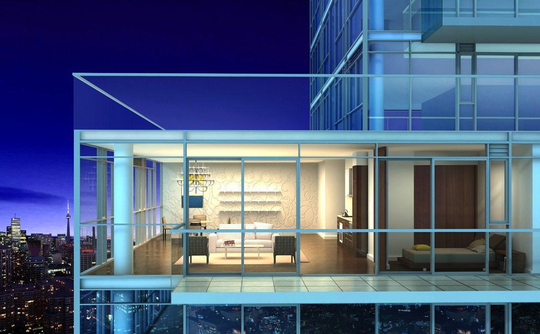 Lumiere Condominiums Balcony Toronto, Canada