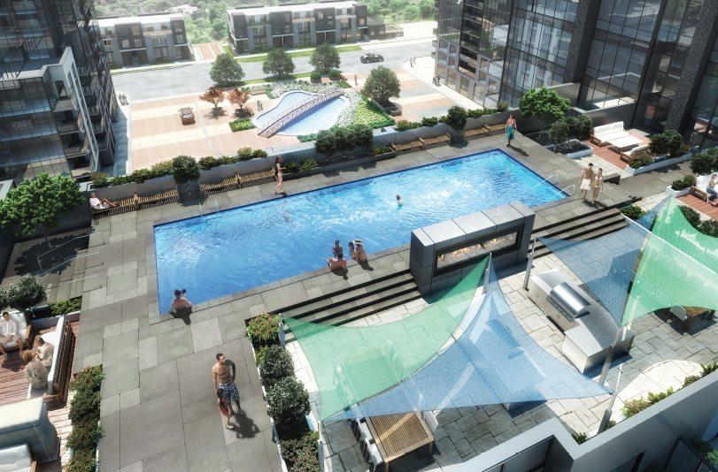 ME Living Condos Terrace Pool Toronto, Canada