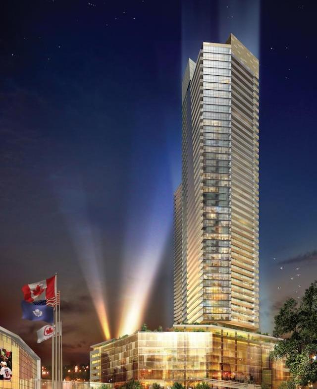Maple Leaf Square Building View Toronto, Canada