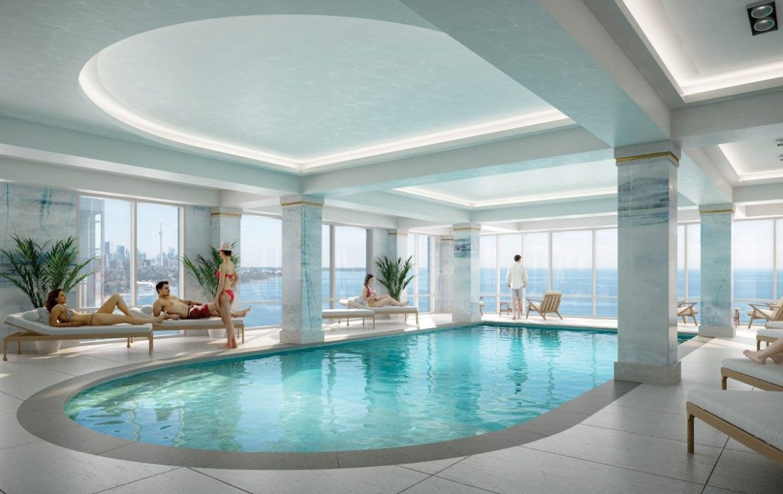 Mirabella Condos Swimming Pool Toronto, Canada