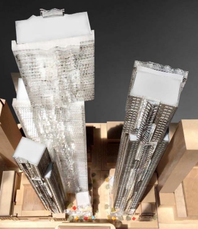 Mirvish+Gehry Toronto Condos Aerial View Toronto, Canada