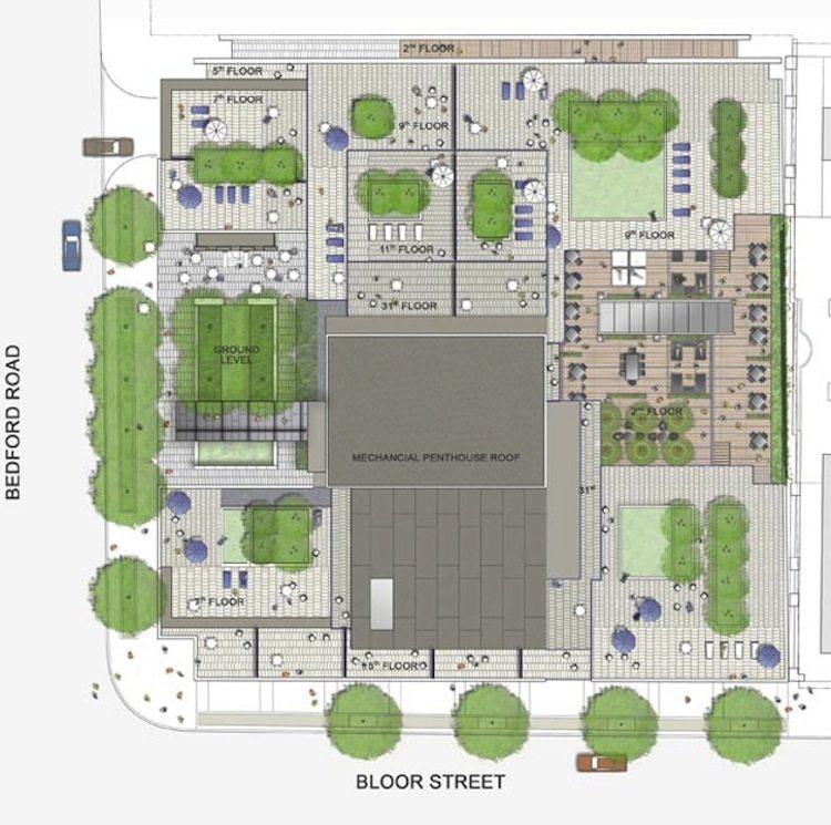 One Bedford Condos Plan Toronto, Canada