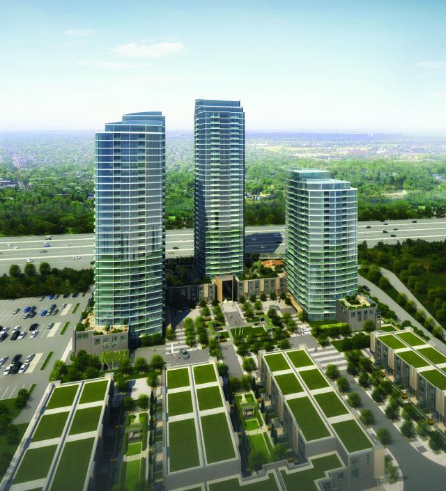 One Valhalla Towns & Condos + Triumph Phase Three Aerial View Toronto, Canada