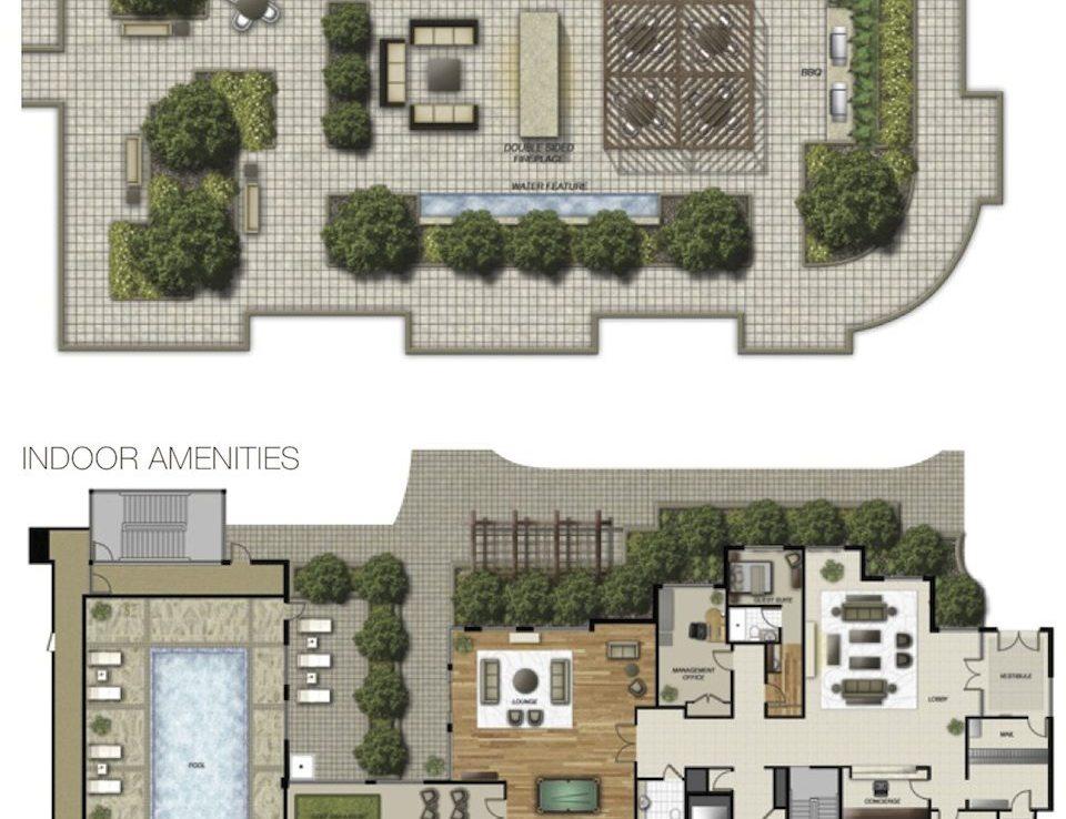Perspective Condominiums Amenities Plan Toronto, Canada