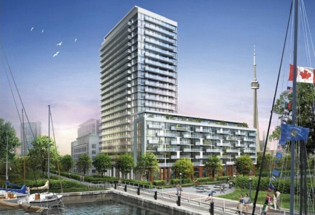 Quay West at Tip Top Condos Building View Toronto, Canada