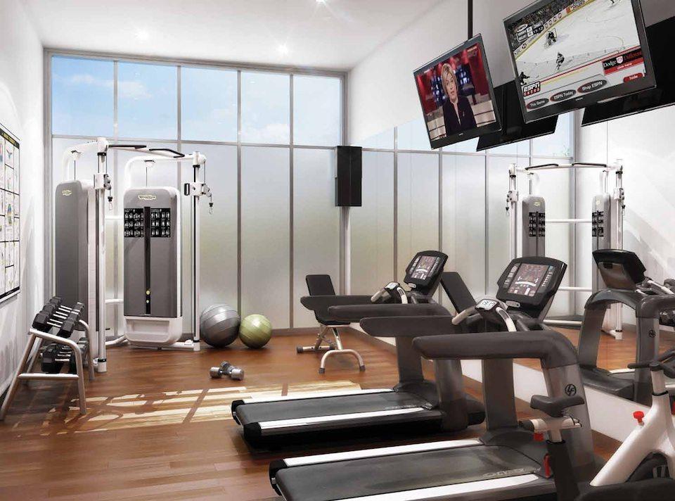 Qube Condos Fitness Center Toronto, Canada