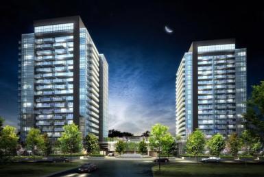 SkyCity Condominiums Night View Toronto, Canada
