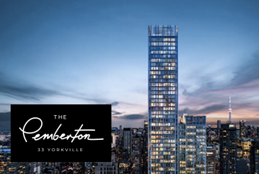 The Pemberton Condos at 33 Yorkville Avenue in Toronto