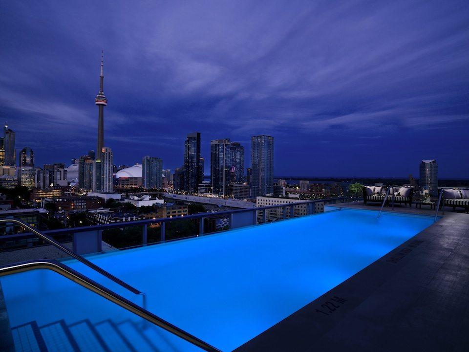 Thompson Hotel & Residences Rooftop Pool Toronto, Canada