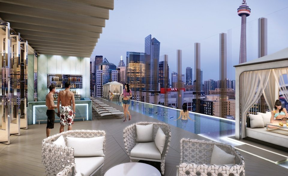 Bisha Hotel and Residences Terrace Pool Toronto, Canada